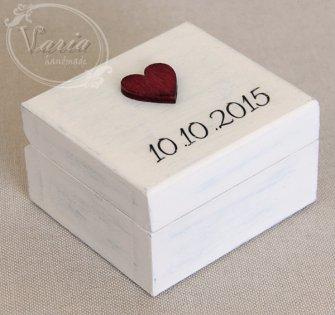 Pudełko na obrączki - na zamówienie (Wzór 17) - 0