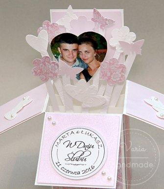 Kartka_Życzenia z okazji Ślubu-wykonane na zamówienie - 0