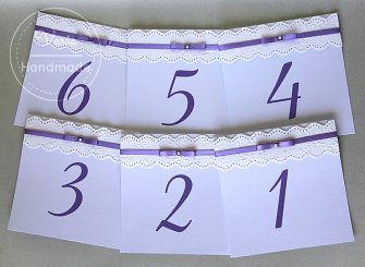 Numerki na stoły weselne - 0