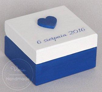 Pudełko na obrączki - na zamówienie (Wzór 19) - 0