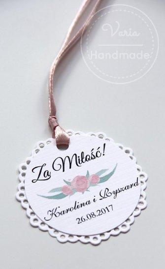Zawieszki na alkohol Malowane Kwiaty Falbanka (Wzór 17) - 0