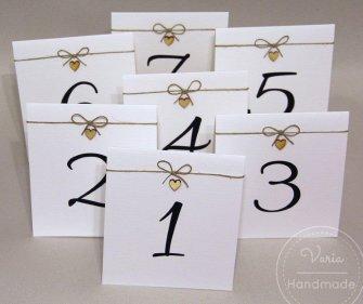 numery na stoły weselne - 0