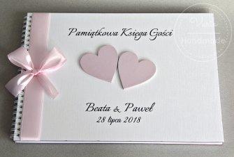 Księga Gości a4 Ankiety - Różowe Serca - 0