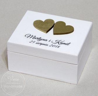 pudełko na obrączki wykonane na zamówienie - 0
