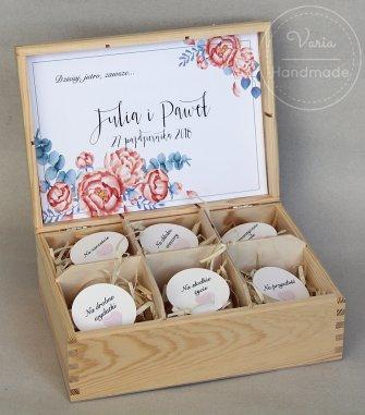 Drewniane Pudełko - Niezbędnik Pary Młodej - 0