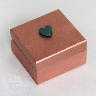 Miedziane pudełko na obrączki - 0