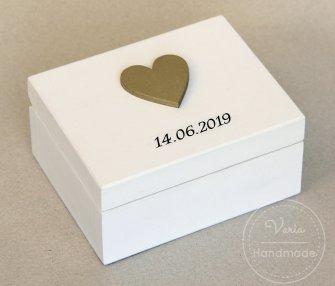 Pudełko na obrączki - na zamówienie (Wzór 4) - 0