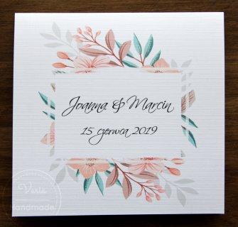 Zaproszenie na ślub - Pastelowe Kwiaty (Wzór 96) - 0