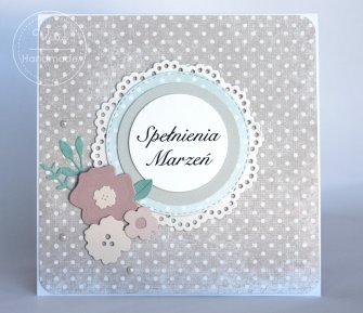 Kartka z życzeniami Pastelowe Kwiaty - 0