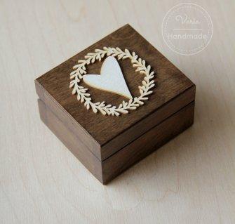 Pudełko na obrączki - Rustykalny Wieniec (Wzór 2) - 0