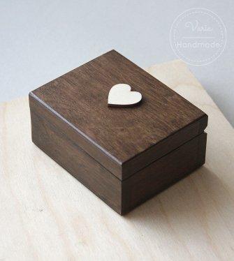 Rustyklane pudełko na obrączki_wykonane na zamówienie - 0