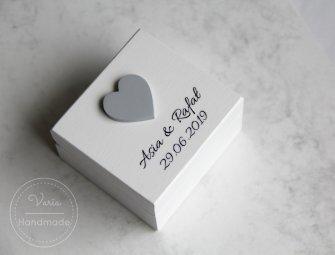 Pudełko na obrączki - na zamówienie (Wzór 22) - 0