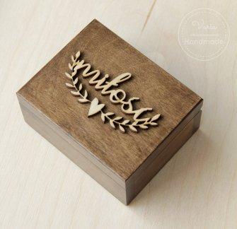 Pudełko na obrączki Rustykalna Miłość - 0