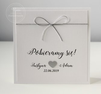 Zaproszenie na ślub - Pobieramy się Srebro (Wzór 22) - 0