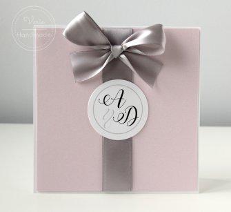 Zaproszenie na ślub - Perłowy Róż (Wzór 65) - 0