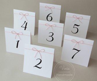 Numerki na stoły weselne_wzór nr 6 - 0