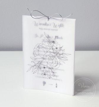 Zaproszenie ślubne - Róża z Kalką (wzór 113) - 0