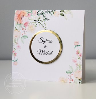 Zaproszenie ślubne - Lustrzane Kwiaty (wzór 117) - 0