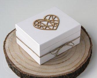 Pudełko na obrączki Rustykalne Serce - 0