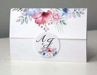 Zaproszenie na Ślub - Kwiatowa Koperta (Wzór 123) - 0