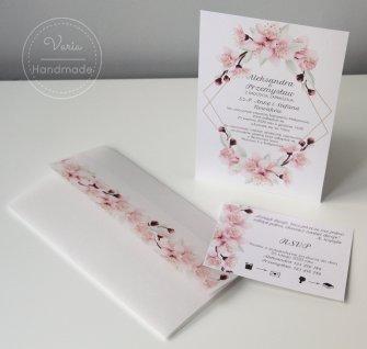 Zaproszenie na ślub - Magnolia Kalka (Wzór 124) - 0