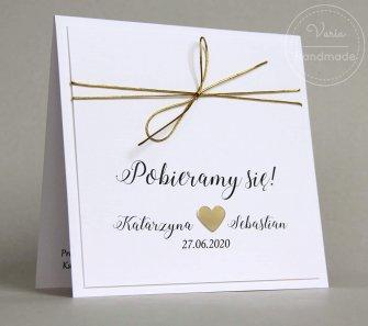Zaproszenie na ślub - Minimalistyczny Glamour (Wzór 127) - 0