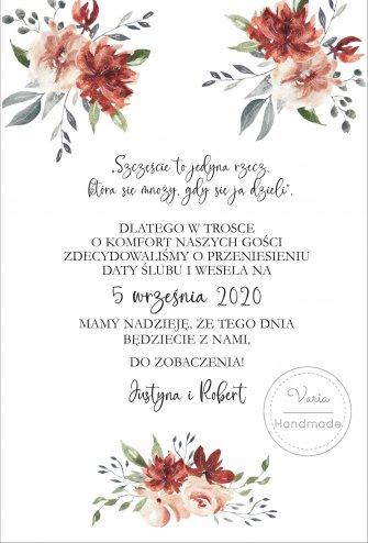 Zawiadomienie o Zmianie Daty Ślubu (Wzór 4) - 0