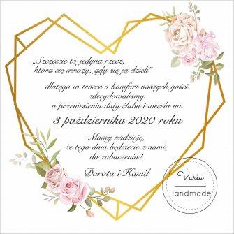 Zawiadomienie o Zmianie Daty Ślubu (wzór 6) - 0