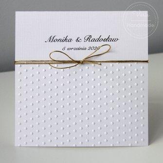 Zaproszenie na Ślub - Kropeczki (wzór 129) - 0