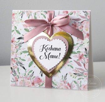Kartka na Dzień Matki - Lustrzane Serce (Wzór 19) - 0