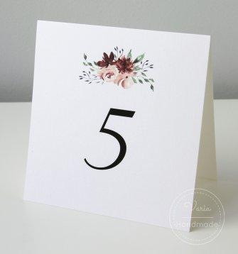 Numer na stoły weselne wzór nr 11 - 0
