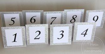 Numer na stoły weselne wzór nr 12 - 0