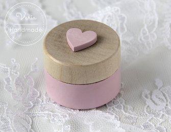 Pudełko na obrączki okrągłe róż - 0