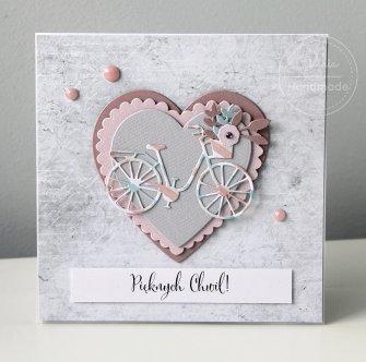 kartka pastelowy rower - 0