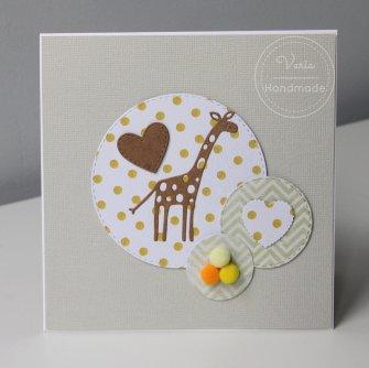 Kartka dla malucha żyrafa nr 31 - 0