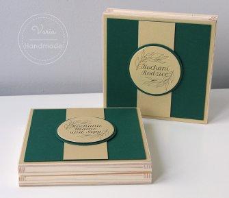 Zaproszenie dla rodziców nr 30 w drewnianym pudełku - 0